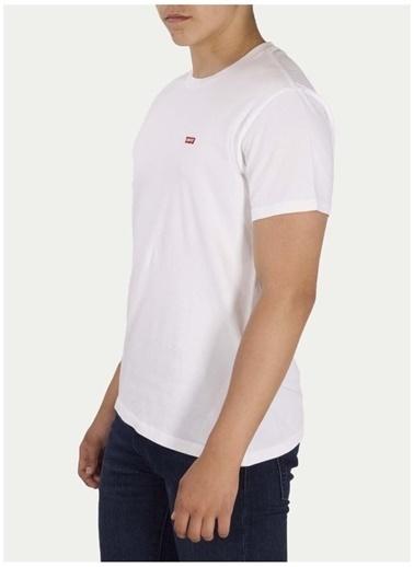 Levi's® Levis Erkek Beyaz Bisiklet Yaka T-Shirt Beyaz